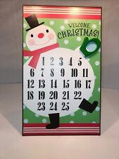 Hallmark Metal Advent Calendar Xmas Countdown Snowman Mitten Magnetic 18x11 2011