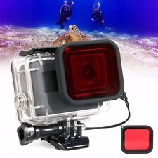 Red Camera Lens Filter For GoPro Hero6 5 Underwater Diving Housing Case Cover
