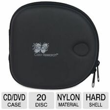 Color Research Movie/Music/DVD 20 Disc Black Hard Shell Carrying Case