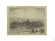 1 Orig.Kupferstich aus Bertius ca.1616 EISLEBEN GESAMTANS