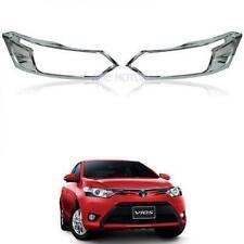 For Toyota Belta Vios Yaris Sedan 13+ Head Lamp Cover Trim Protection Chrome
