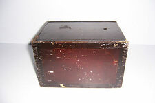 ANTIQUE WOODEN CHALK BOX WITH SLIDING LID TOP GREAT FOR PRIMITIVE DECORATING