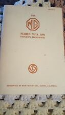 The  MG Series MGA 1600 Driver's Handbook - AKD1172C With Supplement