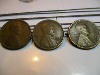 Complete 1929 Lincoln Cent Wheat Penny Set, P, D, & S, Mints - Nice Coins