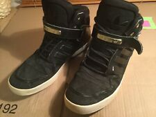 Mens Adidas Boot Trainers Black Suede Size Uk 11 Used