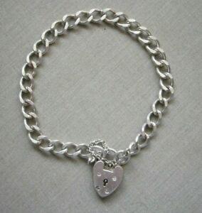 """Georg Jensen Vintage Sterling Silver Flat Curb Bracelet 7.4"""" / 19 cm ~ 14.2g"""