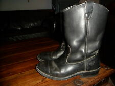 BOTTES CUIR /HERITAGE WEST/work shoes boots /MADE IN USA  8 D/41 GENUINE LEATHER
