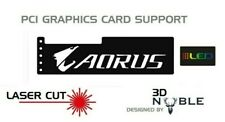 BLACK - RGB Addressable LED Backlit AORUS - GPU Anti-Sag Support Bracket Remote