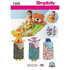 SIMPLICITY SEWING PATTERN CHILD'S NAP PACKS 1389