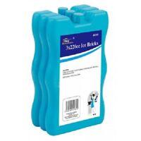 3x FREEZER BLOCK Ice Box Bag Blocks Cooler Travel Picnic Reusable Cool