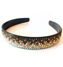 USA Handmade Headband Rhinestone Crystal Hairband Hairpin Bling Gray AB Brown C7