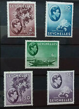 SEYCHELLES 1938-1949 DEFINS 5 MH VALUES    A073