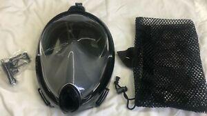 Full Face Mask Snorkel Foldable Detachable Camera Mount Diving Swim Easy Breath