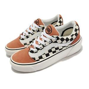Vans Shape Ni Checkerboard Brown White Men Unisex Skate Boarding VN0A4UVL24Y