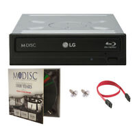 LG WH16NS40 16X Internal Blu-ray BDXL Burner Writer + 1pk M-DISC DVD +SATA Cable