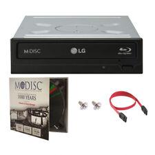 LG WH16NS40 16X Internal Blu-ray BDXL DVD Burner Driver+1pk Mdisc DVD+SATA Cable