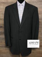 Armani Collezioni Men's Wool Cotton Dark Gray 2-BTN Blazer Sport Coat Jacket 42L