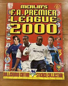 Merlin Premier League 2000 Sticker 100% Complete Book Millennium Edition. VGC!