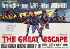The Great Escape STEVE McQUEEN ** Movie Poster ** d'impression haute qualité