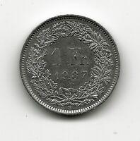 World Coins - Switzerland 1 Franc 1987 Coin KM# 24a