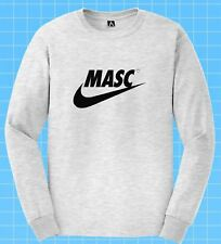 Masc Swoosh Long Sleeve Gay Pride LGBT Scally Lad Slogan Bottom Sport Top
