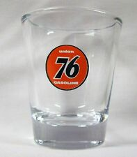 Union 76 Gasoline Logo on Clear Shot Glass