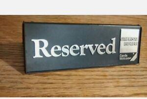 Vint.American Express Reserved Table Seat SignsTent Style Display  a