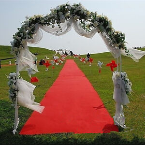 16ft Disposable Party Wedding Floor Runner Red Carpet One Time Use Scene Decor