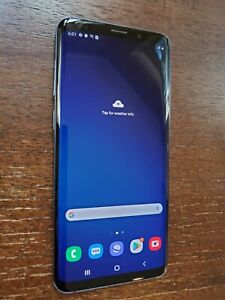 Samsung Galaxy S9+ Plus SM-G965U (Unlocked/T-mobile) 64GB Coral Blue SCREEN BURN