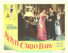 MONTE CARLO BABY  LOBBY CARD 11X14 Size Movie Poster Card #1 AUDREY HEPBURN