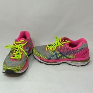 Asics Women's Gel Nimbus 18 Neon Pink Yellow Running Athletic Sneakers Shoes 7.5