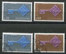 Andorra-franz 208 - 209  postfrisch und gestempelt, Europa