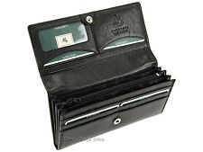 Visconti Large Multi Compartment Ladies Leather Purse Womens Wallet - Ht35 Black