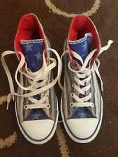 STARS AND STRIPES HIGH TOP ALL STAR CONVERSE TRAINERS SIZE UK 3.5