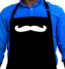 Mustache Funny Apron Gift for Men Quality Barbeque or Cooking Apron by ApronMen