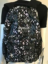 NWT WOMENS GIRLS ONEILL NEVADA BACKPACK BOOKBAG BLACK,GREY,PINK