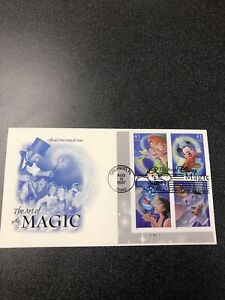 2007 The Art of Disney Magic (4192-95) First Day Cover. 5 Covers(1 Has 4 Stamps)