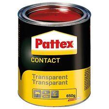 COLLE NEOPRENE CONTACT TRANSPARENTE 650 gr PATTEX BOIS PLASTIQUE CUIR LIEGE PVC