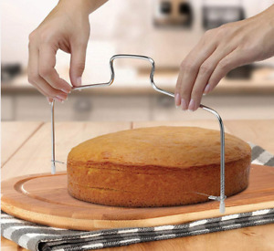 Tortenschneider Edelstahl verstellbar Tortenteiler Tortensäge Kuchenschneider