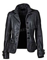New Women's Genuine Lambskin Soft Leather Motorcycle Slim fit Biker Jacket/Coat