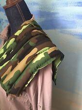 """LARGE 21x10"""" rice heat pad hot /cold shoulder neck wrap pack lumbar camo  Print"""