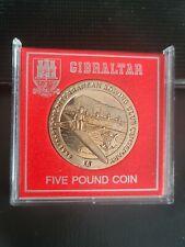 More details for gibraltar 1999 mediterranean rowing club £5 coin *rare*