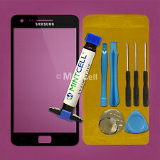 New Black Front Glass Touch Screen Lens Replacement For Galaxy S2 i9100 w/ LOCA