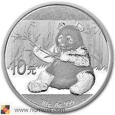 CHINA 10 Yuan 2017 Panda 30 gramos de plata (S/C) En Cápsula de la MInt - CHINE