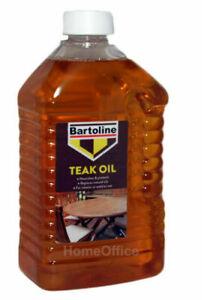 Bartoline Teak Oil  Wood Furniture Sealer Protector Exterior Use Preserver 2L