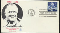#1950 Franklin Roosevelt Kenick Masonic Cachet First Day Cover Unaddres Lot 1043