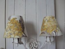 **CANDLE LAMPSHADES** LAURA ASHLEY HYDRANGEA CAMOMILE FRENCH COUNTRY STYLE CHIC