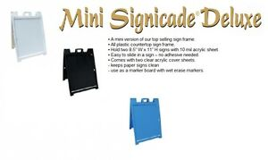 MINI SIGNICADE DELUXE SIGN FRAME / PORTABLE SIGN HOLDER FOR VINYL, GRAPHIC PRINT