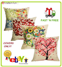 """Outdoor Throw Pillow Covers Set of 4 Patio Garden Couch Cushion Case 18x18"""" SALE"""