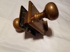 Vintage Corbin Brass Door Knob Lock Set  Art Deco Hardware